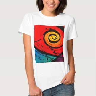 Bright Red Swirl Abstract Groovy Art Tee Shirt