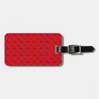 Bright Red Trendy Hibiscus Flowers Luggage Tag
