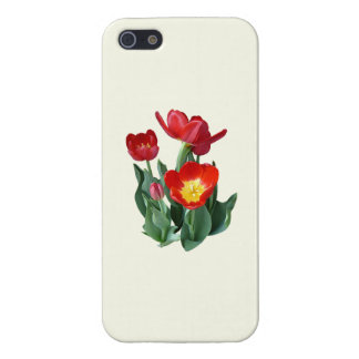 Bright Red Tulips Cover For iPhone 5