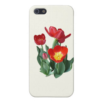 Bright Red Tulips Case For iPhone 5