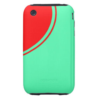 bright red turquoise iPhone 3 tough case
