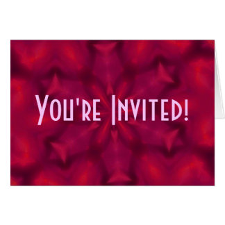 Bright Red-Violet Invitaion Greeting Card