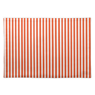 Bright red white stripes classic simple pattern place mat