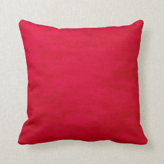 Bright Red Wild Throw Pillow