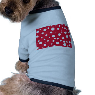 Bright Red with White Polka Dots Summer Fun Pet T Shirt
