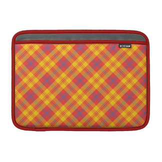 Bright Red Yellow Blue Plaid MacBook Air Sleeve