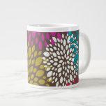Bright Retro Floral Speciality Mug Extra Large Mugs