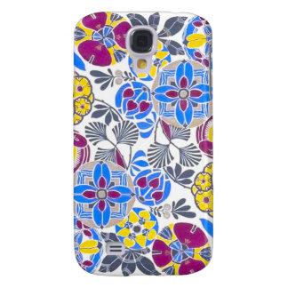 Bright Retro Flower Pattern Galaxy S4 Case