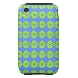 bright retro lime green blue pattern iPhone 3 tough covers