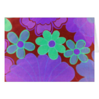 Bright Retro Look-Floral Design-Notecards Card