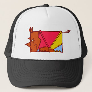 bright rhino trucker hat
