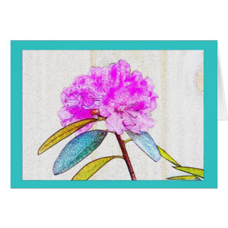 Bright Rhododendron in electric colors! Card