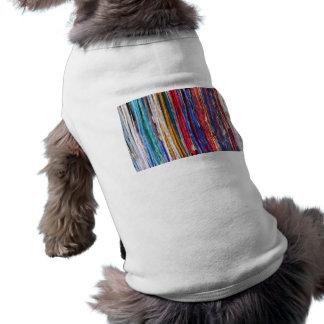 Bright ribbons, colorful stripes sleeveless dog shirt