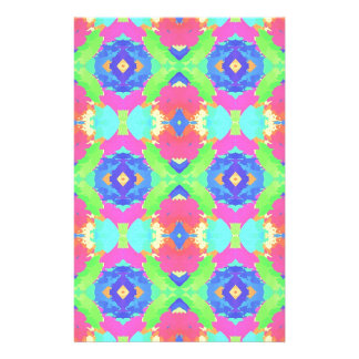 Bright Rich Pastel Tribal Pattern Customised Stationery