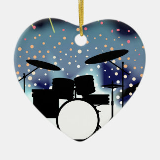 Bright Rock Band Stage Ceramic Heart Decoration