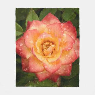 Bright Rose Fleece Blanket