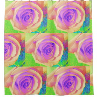 Bright Rose shower curtain