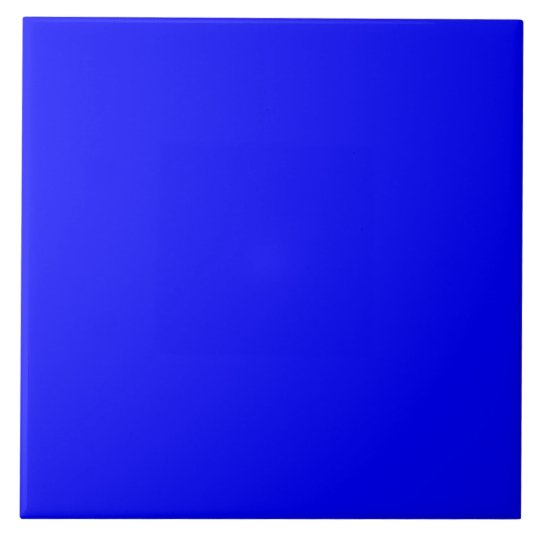 Bright Royal Blue Solid Trend Colour Background Tile