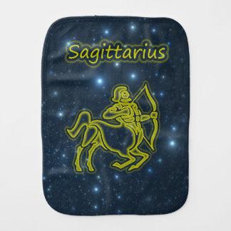 Bright Sagittarius Burp Cloth