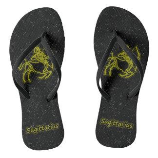 Bright Sagittarius Flip Flops