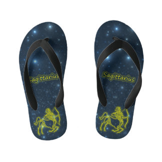 Bright Sagittarius Kid's Flip Flops