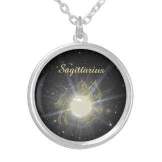 Bright Sagittarius Silver Plated Necklace