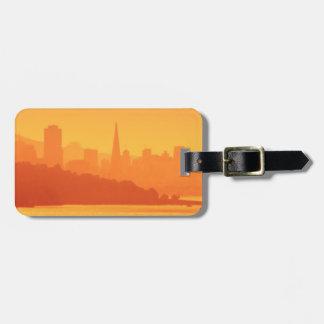Bright San Francisco sunset. Bag Tag