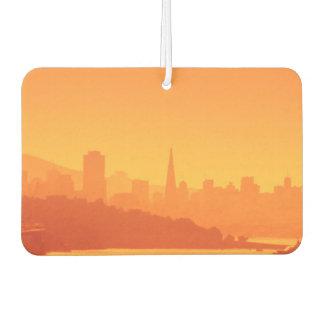 Bright San Francisco sunset. Car Air Freshener