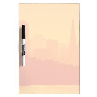 Bright San Francisco sunset. Dry Erase Board