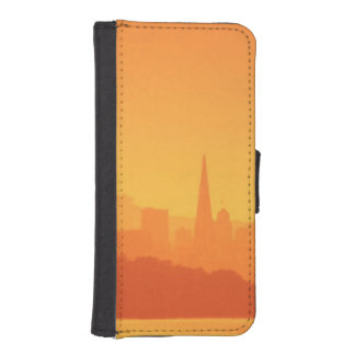 Bright San Francisco sunset. iPhone SE/5/5s Wallet Case