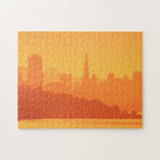 Bright San Francisco sunset. Jigsaw Puzzle