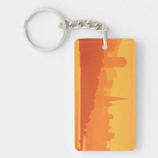 Bright San Francisco sunset. Key Ring