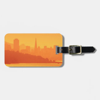 Bright San Francisco sunset. Luggage Tag