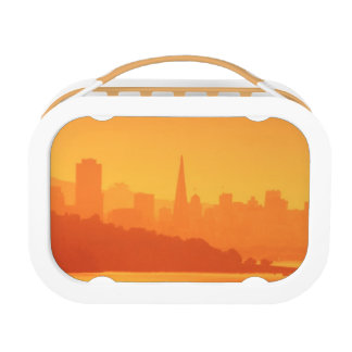 Bright San Francisco sunset. Lunch Box