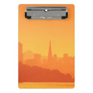 Bright San Francisco sunset. Mini Clipboard