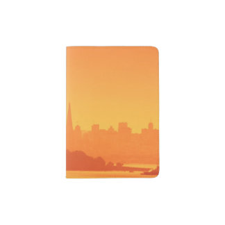 Bright San Francisco sunset. Passport Holder