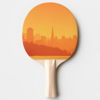 Bright San Francisco sunset. Ping Pong Paddle