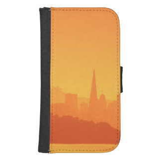 Bright San Francisco sunset. Samsung S4 Wallet Case