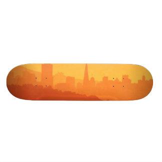 Bright San Francisco sunset. Skate Board Decks