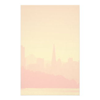 Bright San Francisco sunset. Stationery