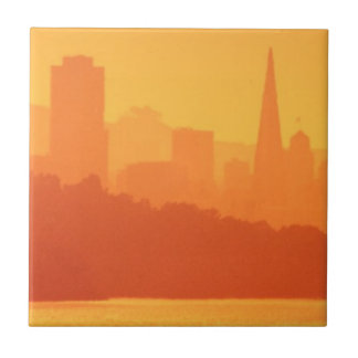 Bright San Francisco sunset. Tile