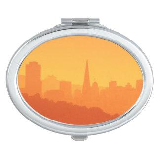 Bright San Francisco sunset. Vanity Mirrors