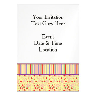 Bright Scattered Strawberry Swirl Pattern - Border Magnetic Card