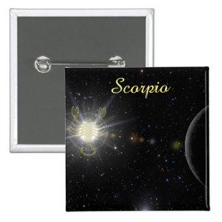 Bright Scorpio 15 Cm Square Badge