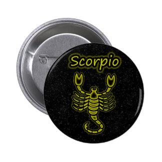Bright Scorpio 6 Cm Round Badge