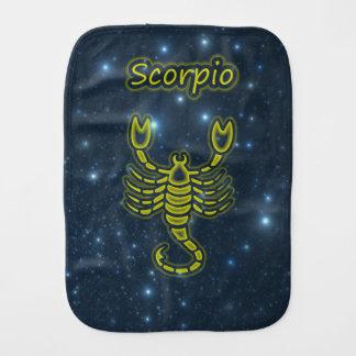Bright Scorpio Burp Cloth