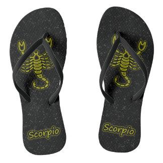 Bright Scorpio Flip Flops