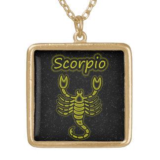 Bright Scorpio Gold Plated Necklace