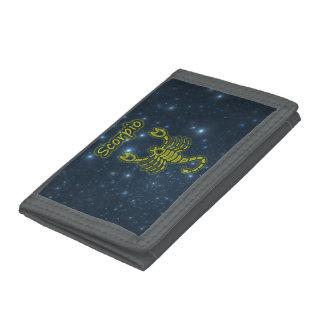Bright Scorpio Tri-fold Wallet