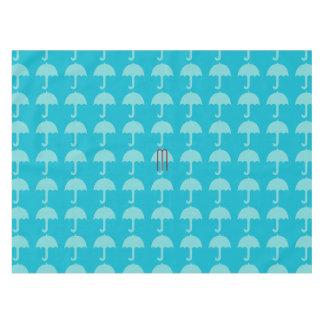 Bright Sea Blue Beach Holiday Umbrella Pattern Tablecloth